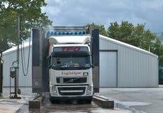 Camiones en el cuarto de ducha Imagen de archivo libre de regalías