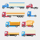 Camiones fijados Foto de archivo libre de regalías