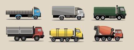 Camiones industriales de la carga del transporte Fotos de archivo libres de regalías