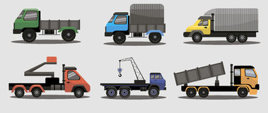 Camiones industriales de la carga del transporte Imagen de archivo