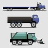 Camiones industriales de la carga del transporte stock de ilustración