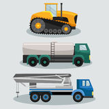 Camiones industriales de la carga del transporte Fotografía de archivo libre de regalías