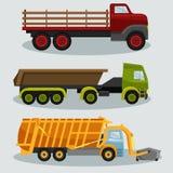 Camiones industriales de la carga del transporte ilustración del vector