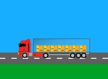 Camiones Lorry Icon Design Style Flat Imagen de archivo