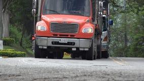 Camiones, tractor remolque, cargo, entrega almacen de video