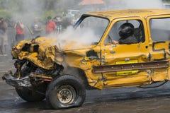 Camioneta pickup arruinada Imagen de archivo libre de regalías
