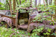 Camioneta pickup con la muestra de los extremos Imagen de archivo libre de regalías