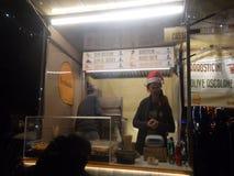 Camioneta pickup de la comida de la calle foto de archivo