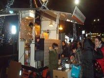 Camioneta pickup de la comida de la calle imágenes de archivo libres de regalías