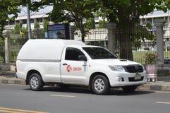 Camioneta pickup de los servicios de transporte de DKSH Thailand Limited Foto de archivo libre de regalías
