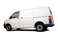 Camionete branca em branco Fotos de Stock Royalty Free