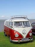 Camionete da tela rachada do volkswagon do vintage Imagens de Stock Royalty Free