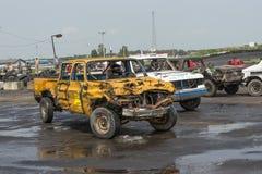 Camionete danificado Fotos de Stock