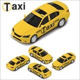Camionete de alta qualidade isométrica do táxi do vetor Ícone do transporte Imagens de Stock Royalty Free