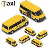Camionete de alta qualidade isométrica do táxi do vetor Ícone do transporte Fotos de Stock Royalty Free