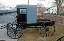 Camionete de Amish imagens de stock
