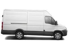 Camionete de entrega branca Fotos de Stock