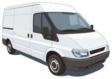 Camionete de entrega branca Imagens de Stock