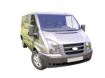 Camionete de entrega comercial cinzenta Fotografia de Stock