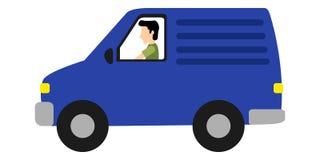 Camionete de entrega isolada ilustração do vetor