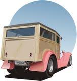 Camionete de painel arborizado do vintage velho Fotografia de Stock Royalty Free