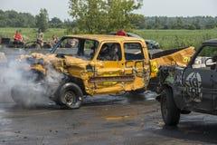 Camionete destruído na ação Imagem de Stock Royalty Free