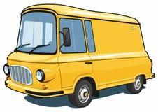 Camionete do anúncio publicitário dos desenhos animados Fotografia de Stock