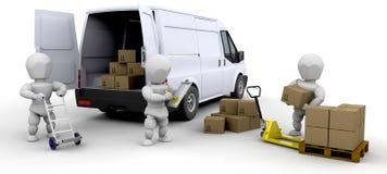 Camionete do carregamento ilustração royalty free