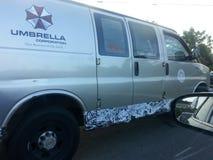 Camionete do guarda-chuva Fotografia de Stock