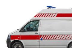 Camionete do serviço de ambulância isplated no branco fotos de stock royalty free