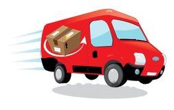 Camionete rápida do correio do transporte Foto de Stock Royalty Free