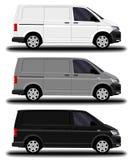 Camionete realística da carga ilustração stock