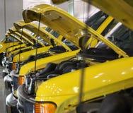 Camionetes com capas acima Foto de Stock Royalty Free