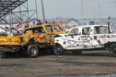 Camionetes destruídos na ação Imagens de Stock Royalty Free