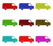 Camionetes ilustradas Imagem de Stock