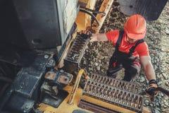 Camionista da mina imagens de stock royalty free