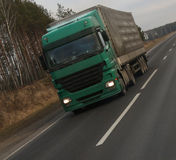 Camionista interurbano Immagini Stock