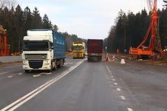 Camionista interurbano Immagine Stock Libera da Diritti