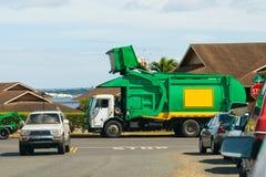 Camionnette de livraison de détritus Photographie stock libre de droits