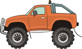 Camionnette de livraison orange Photos stock