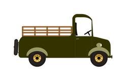 Camionnette de livraison verte Images stock