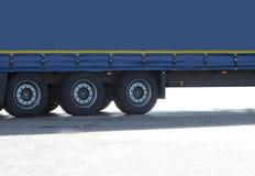 Camionneur de véhicule de transport photos stock