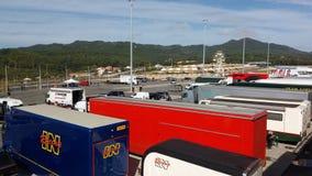 Camions à la course historique de voiture de sport Images libres de droits
