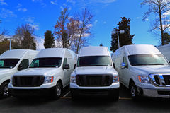 Camions commerciaux de cargaison images stock
