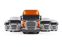 Camions d'isolement sur le blanc Photo stock