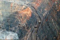 Camions dans la mine d'or superbe de mine Australie Images libres de droits