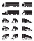 Camions dans la vue de perspective différente Images libres de droits