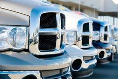 Camions dans une ligne Photographie stock libre de droits