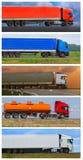 Camions de collage fournissant le fret Photo libre de droits