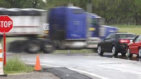 Camions de danger image libre de droits